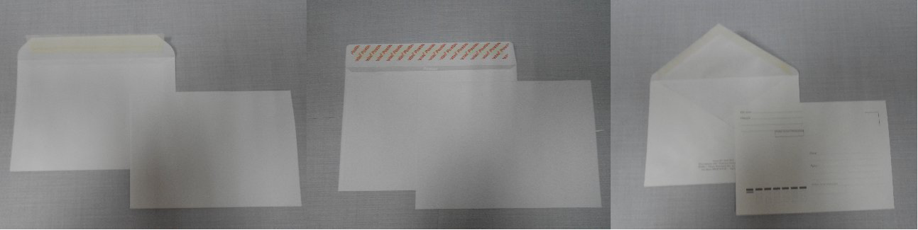 Все виды и размеры почтовых конвертов